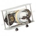 Toptan Dekoratif Nostaljik Uçak Saat Yaprak Mekanizmalı AS20534