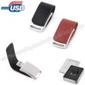 Toptan Metal Flash Bellek 8 GB - Deri Koruyuculu AFB3218-8