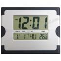 Toptan Dijital Duvar Saati Takvim ve Termometreli GDS793