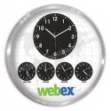 Toptan Metal Dünya Saatleri Beşli Duvar Saati 60 Cm Alüminyum AS20571