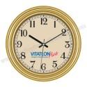 Toptan Duvar Saati Altın 37 Cm AS20115-BG