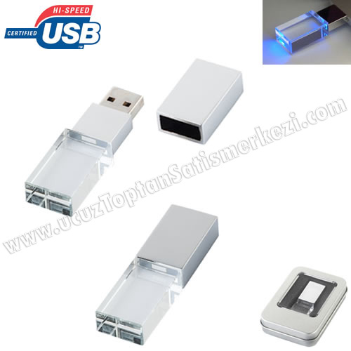 Toptan Flash Bellek 8 GB - Şeffaf Gövdeli AFB3287-8