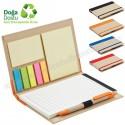 Toptan Geri Dönüşümlü Bloknot - Kalemli ve Renkli Yapışkan Notluklu AGD24147
