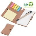 Toptan Geri Dönüşümlü Bloknot - Kalemli ve Renkli Yapışkan Notluklu AGD24161