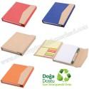 Toptan Geri Dönüşümlü Bloknot - Kalemli ve Renkli Yapışkan Notluklu AGD24164