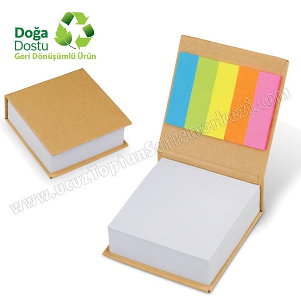 Toptan Geri Dönüşümlü Küp Notluk ve Renkli Yapışkan Notluklar AGD24131