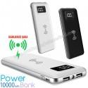 Toptan Kablosuz PowerBank 10000 mAh - 2 Çıkışlı - Dijital Göstergeli APB3832
