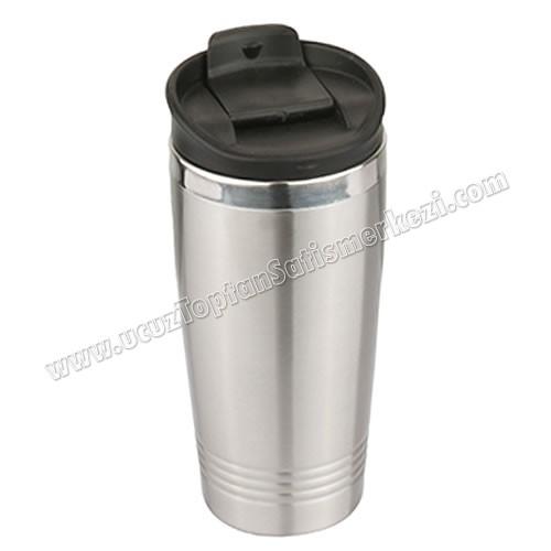 Toptan Kulpsuz Termos Bardak - Kupa - Mug 480 mL - Metal ATM21110