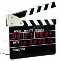 Toptan Klaket Temalı Dijital Masa ve Duvar Saati AS20503-B