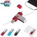 Toptan OTG Flash Bellek 16 GB - OTG Özellikli - Metal Koruyuculu AFB3297-16