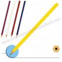 Toptan Köşeli Kurşun Kalem Renkli Gövdeli GVK4562