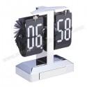 Toptan Işıklı Metal Masa Saati Yaprak Mekanizmalı AS20528