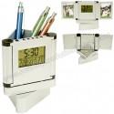 Toptan Ucuz Kalemlik Saatli Resim Çerçeveli Termometreli GMG455